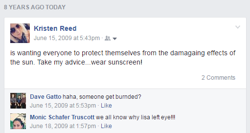 Kristen Reed wants everyone to protect themselves from the damaging effects of the sun. Take my advice, wear sunscreen