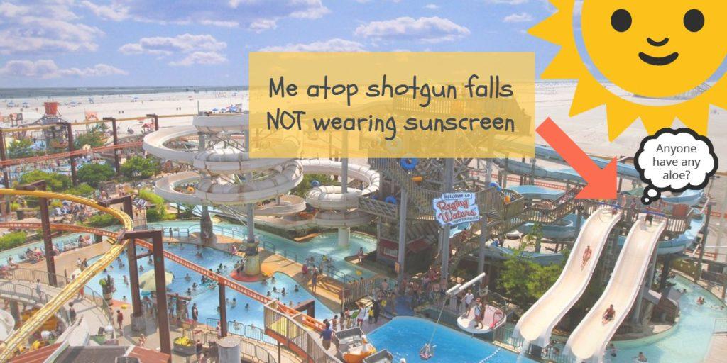 Me atop shotgun falls not wearing sunscreen